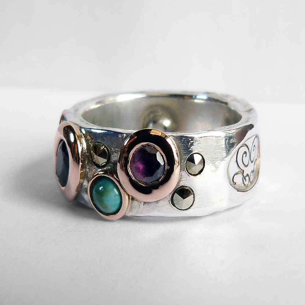 Funky Wedding Rings Funky Bespoke Wedding Ring Custom Wedding Ring