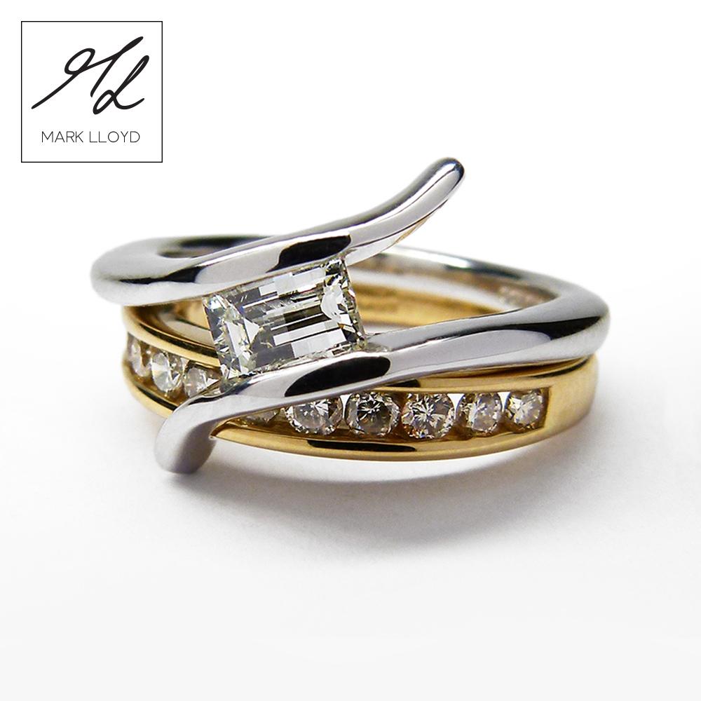 bespoke wedding rings wedding ring and engagement ring