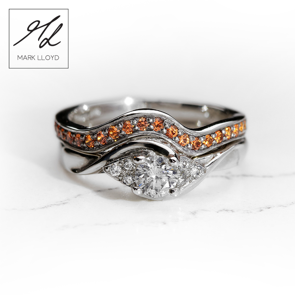 Palladium-Ring-set-Diamond-Orange-Sapphires
