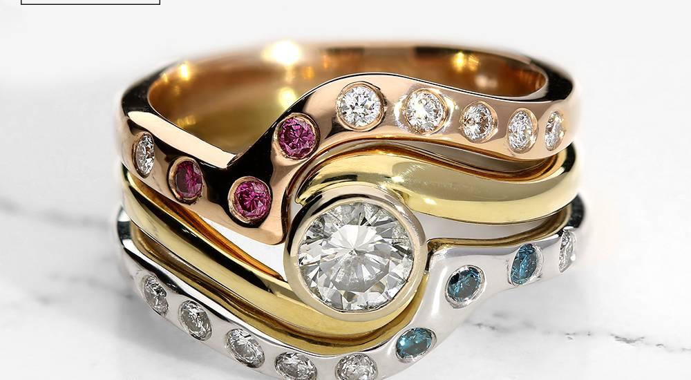 Bespoke Wedding Rings Shaped Wedding Rings Bridal Sets