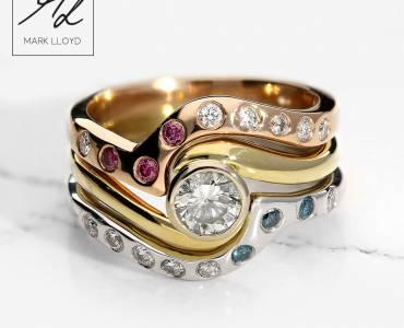 Shaped-Diamond-Ring-Set