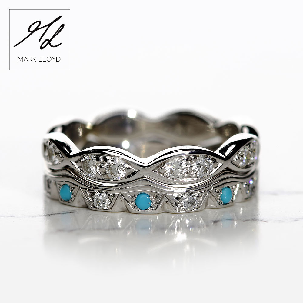 Shaped-Rings-Set-Turquoise