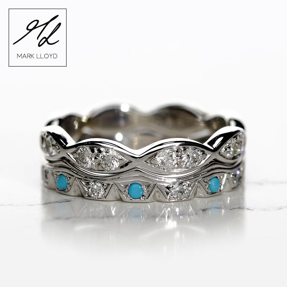 Shaped-Rings-Set-Turquoise