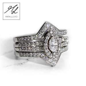 Platinum-Cage-Ring Set-Diamond Ring-1