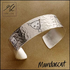 Silver-Mandascat-Flat-Bangle